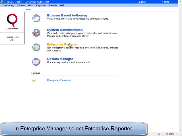 Select Enterprise Manager