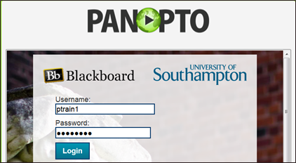 Southampton University Blackboard login username and password