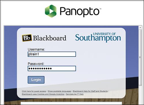 Southampton University Blackboard login username and password