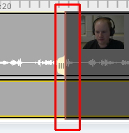 A red line is at the editing mark