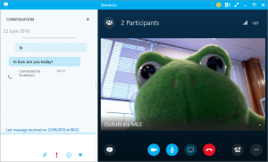 Skype for Business chat view