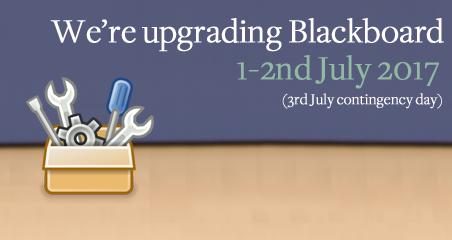 We're upgrading Blackboard