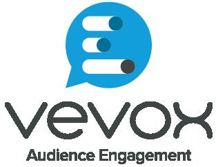 Vevox logo.