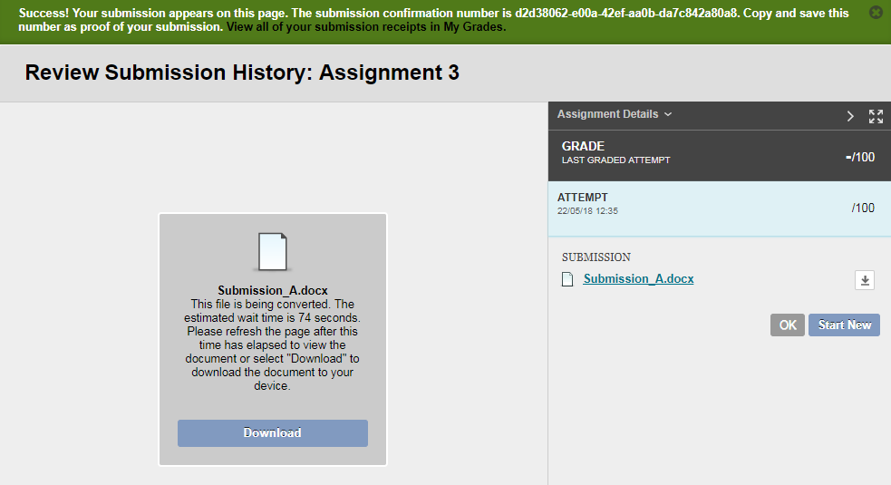 How to Submit a Blackboard Assignment (For Students