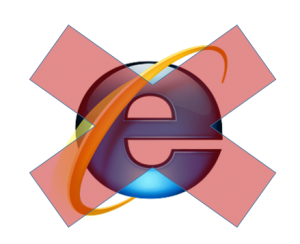 Internet Explorer will no longer be supported for use with Blackboard.