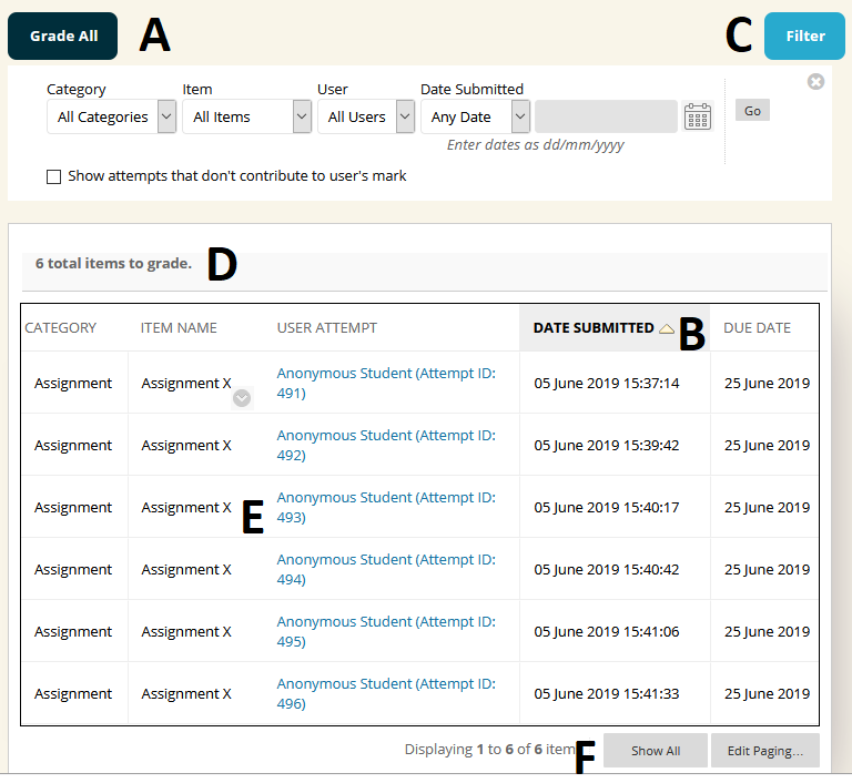 Marking assignments in Blackboard – eLearning Support and ...