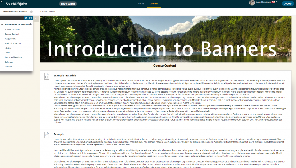 How to add a Course Banner / Masthead to your Blackboard Course
