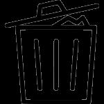 a rubbish bin icon