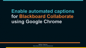 Enable Captions in Blackboard Collaborate