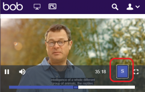 Box of Broadcasts screenshot with subtitles button highlighted.