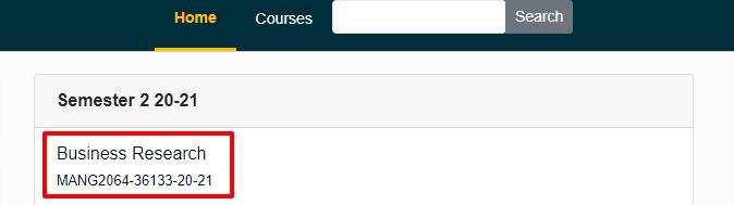 Locate and enter the original course